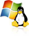 Visual Windows Linux Icon - Choose Your Operating System for your Server24 Dedicated Servers